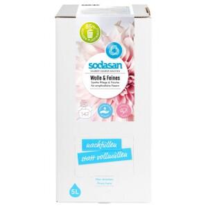 Detergent lichid pentru lana si rufe delicate Bag-in-Box 2 5L - Sodasan