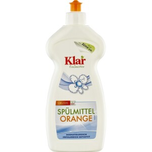 Detergent lichid sensitiv cu portocala pentru vase 500ml - Klar