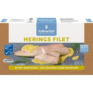 File de hering in sos de mustar bio 200g - Followfish