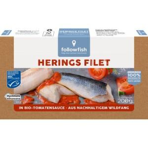 File de hering in sos te tomate bio 200g - Followfish