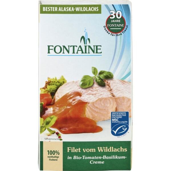 File de somon salbatic in sos de tomate cu busuioc 200g - Fontaine