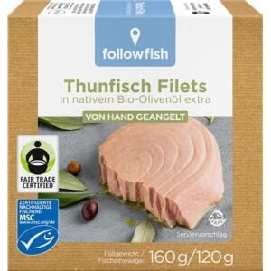 File de ton dungat in ulei de masline bio 160g - Followfish
