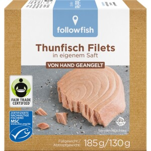 File de ton in suc propriu 185g - Followfish
