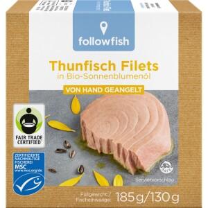 File de ton in ulei de floarea soarelui Bio 185g - Followfish