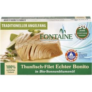 File de ton in ulei de floarea soarelui ecologic 120g - Fontaine