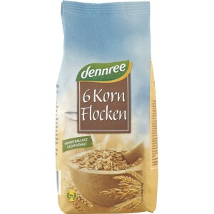 Fulgi bio din 6 cereale 500g - Dennree