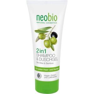 Gel de dus si sampon 2 in 1 200ml - NeoBio