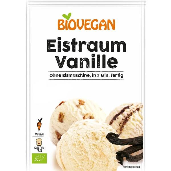 Inghetata de vanilie pudra bio 77g - Biovegan