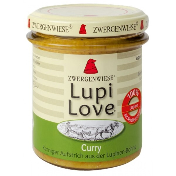 Lupi Love crema tartinabila din lupin si curry 165g - Zwergenwiese