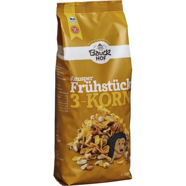 Mic dejun crocant cu 3 cereale fara gluten 225g - Bauck Hof