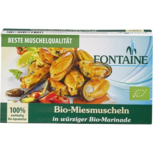 Midii bio in sos picant 120g - Fontaine