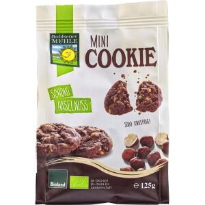 Mini biscuiti cu ciocolata si alune bio 125g - Bohlsener Muehle