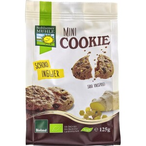 Mini biscuiti vegani bio cu ciocolata si ghimbir 125g - Bohlsener Muehle