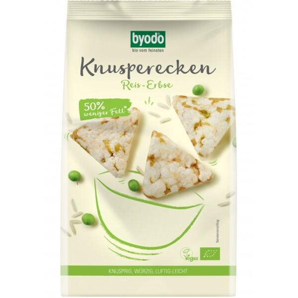 Mini Crackers din orez si mazare FARA GLUTEN 90g - Byodo