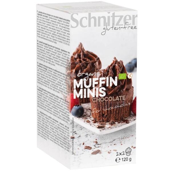 Mini muffins bio cu ciocolata FARA GLUTEN 120g - Schnitzer