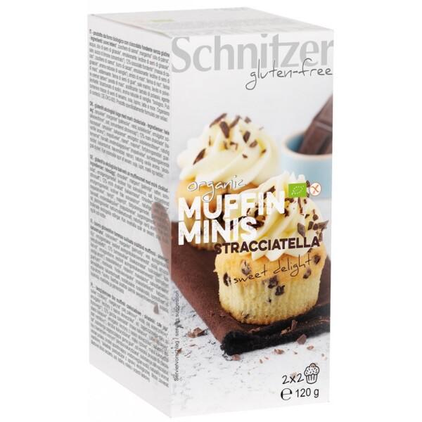 Mini muffins bio cu Stracciatella FARA GLUTEN 120g - Schnitzer