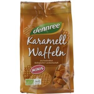 Mini vafe bio cu caramel 150g - Dennree