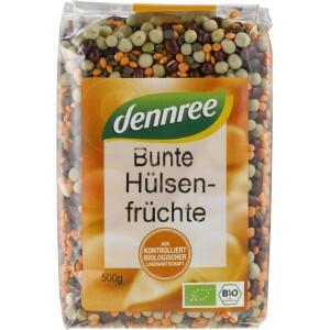 Mix colorat din leguminoase 500g - Dennree