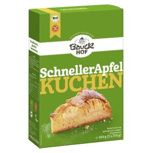 Mix de faina bio pentru placinta rapida cu mere FARA GLUTEN 500g - Bauck Hof