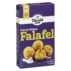 Mix pentru falafel bio curry si cocos 160g - Bauck Hof