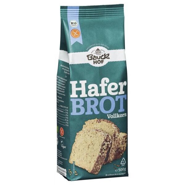 Mix pentru paine din ovaz integral FARA GLUTEN 500g - Bauck Hof