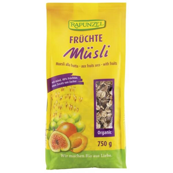 Musli cu fructe bio 750g - Rapunzel