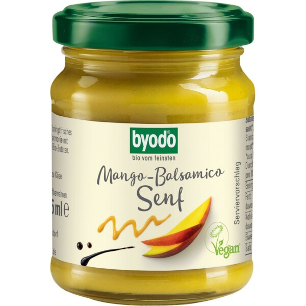 Mustar cu mango si otet balsamic FARA GLUTEN 125ml - Byodo