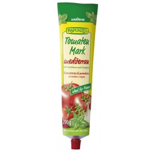 Pasta de tomate bio Mediteraneana in tub 200g - Rapunzel