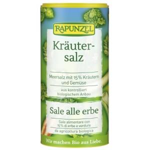 Sare de condimentat cu 15% ierburi si legume 125g - Rapunzel
