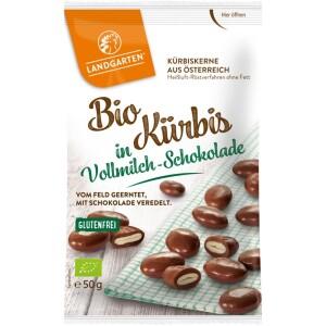 Seminte de dovleac in ciocolata cu lapte 50g - Landgarten