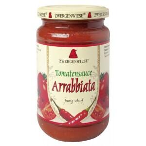 Sos bio de tomate Arrabbiata cu ardei iute 340ml - Zwergenwiese