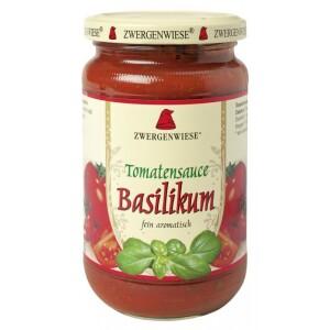 Sos bio de tomate cu busuioc 340ml - Zwergenwiese