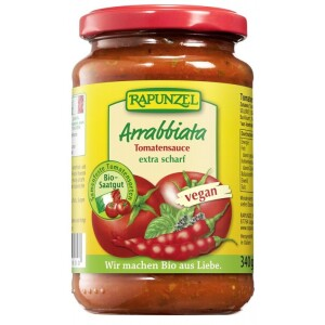 Sos de tomate Arrabbiata 340g - Rapunzel