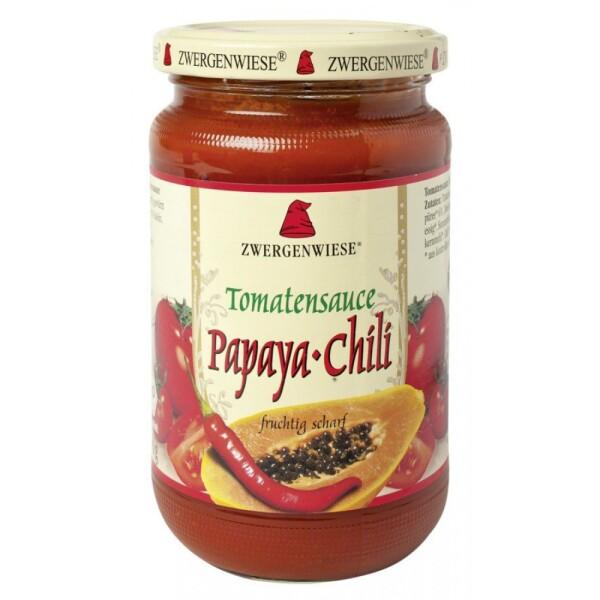 Sos de tomate bio Papaya-Chili 340ml - Zwergenwiese