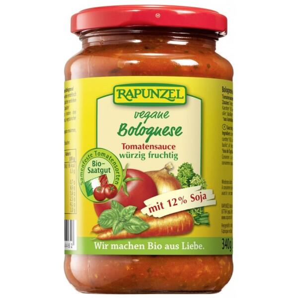 Sos de tomate Bolognese vegetarian cu soia 340g - Rapunzel