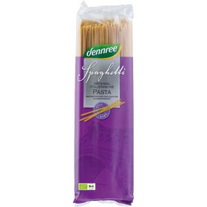 Spaghete din grau dur integral 500g - Dennree