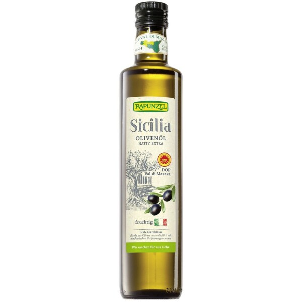 Ulei de masline bio Sicilian extravirgin 500ml - Rapunzel