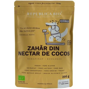 Zahar din nectar de cocos ecologic pur 200g - Republica bio